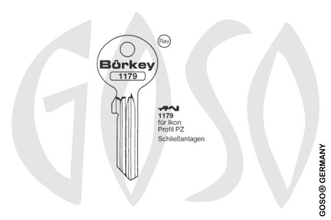 Boerkey cylinder key  BO-1179