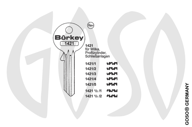 Boerkey cylinder key  BO-1421-1