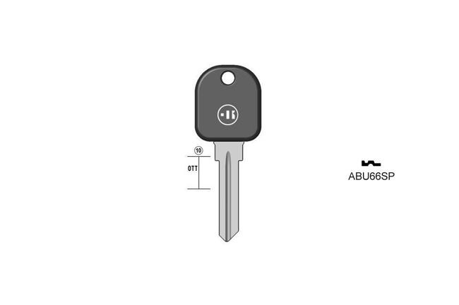 car key Messing plastic head KL-ABU66SP#K041
