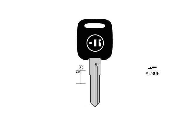 car key steel plastic head KL-AD30P#K141 S-WT7BP BO-1188PS43 JMA-AU-HVP1