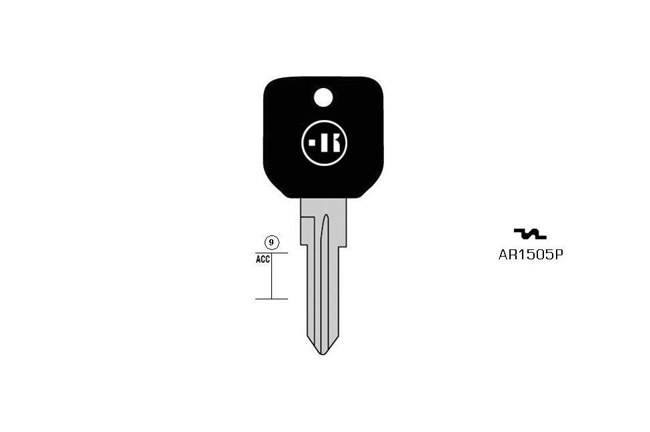 car key steel plastic head KL-AR1505P S-GT15RAP BO-1505NT1 JMA-FI-8IP