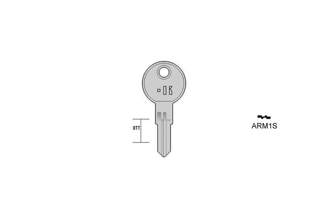 cylinder key Standard Messing KL-ARM1S S-ART1R BO-175800T13 JMA-FI-6IP4