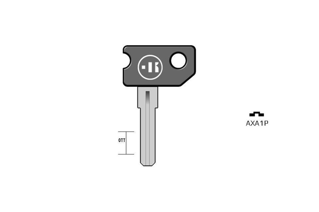 car key Messing plastic head KL-AXA1P#K041