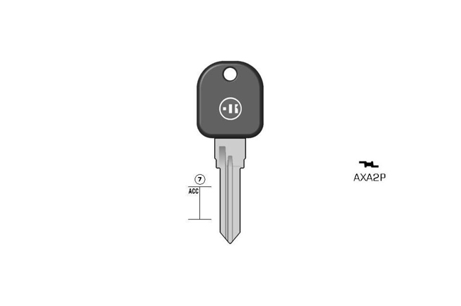 car key steel plastic head KL-AXA2P#K141