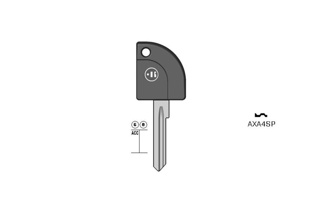 car key steel plastic head KL-AXA4SP#K1L1 S-ASS96RP BO-1748 JMA-AS-21P