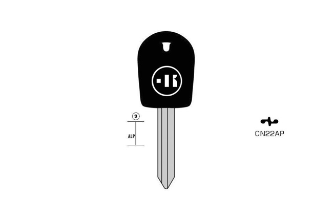 Sonder car key plastic head Neusilber KL-CN22AP#K350 S-SX9GP BO-1315PS24 JMA-SIX-3P2