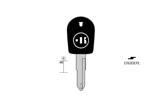 car key Messing plastic head KL-CN30EPL#K041 S-NE72LP BO-160200T10 JMA-NE-20P3