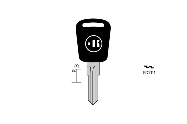 car key steel plastic head KL-FC7P1#K141 S-FO10P BO-961PS03 JMA-FOE/TCP