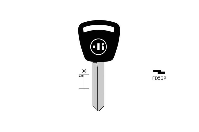 car key steel plastic head KL-FD56P#K141 S-FO18P BO-1222 JMA-FO-2