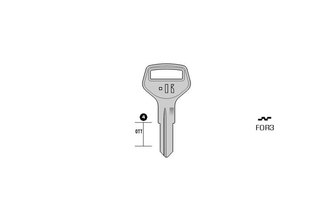 car key Messing KL-FOR3 S-FRT8 BO-17090T12A JMA-FR-8