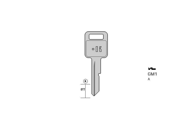 car key Messing KL-GM1 S-GM1-OR BO-1025 JMA-GM-6