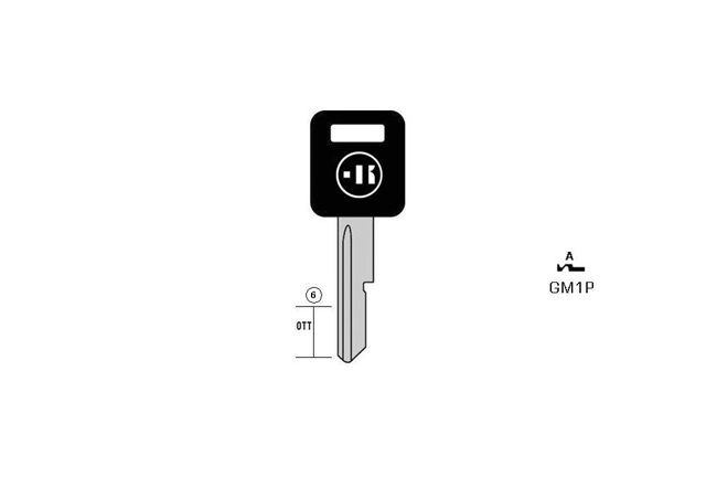 car key Messing plastic head KL-GM1P#K041 S-GM1AP BO-1707 JMA-GM-AP