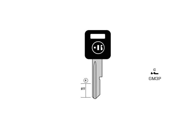car key Messing plastic head KL-GM3P#K041 S-GM2CP BO-1302 JMA-AD-21