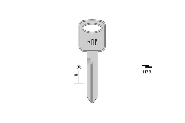 car key Messing KL-H75 S-FO40R BO-534 JMA-FO-15D