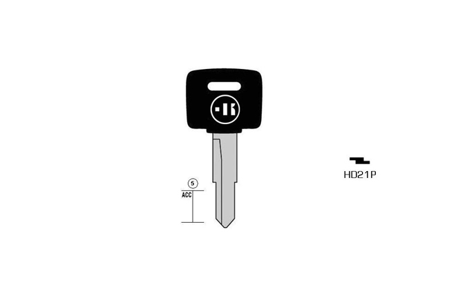 car key steel plastic head KL-HD21P#K141 S-HON39RP BO-534 JMA-HOND-19DP