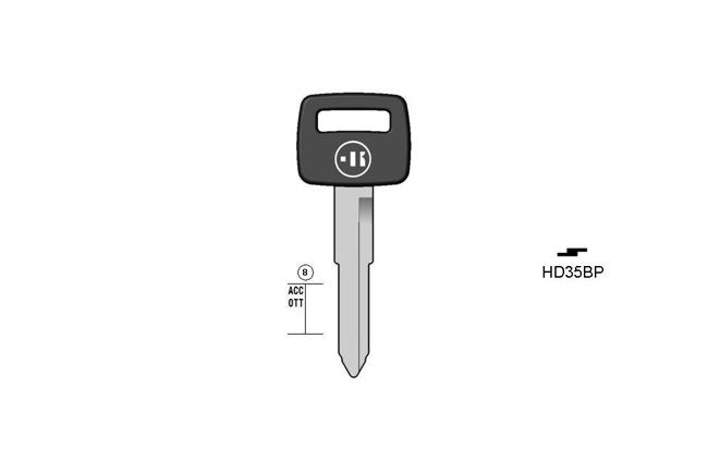 car key steel plastic head KL-HD35BP#K141 S-HON41P BO-1579PS69 JMA-HOND-20P