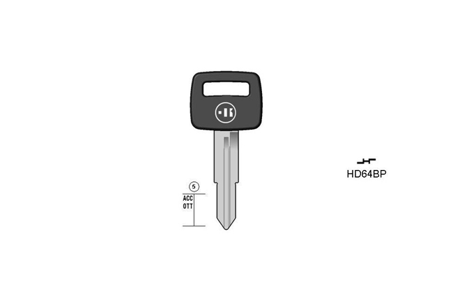 car key steel plastic head KL-HD64BP#K141 S-HON61BP BO-1243PS23 JMA-HOND-4DP2