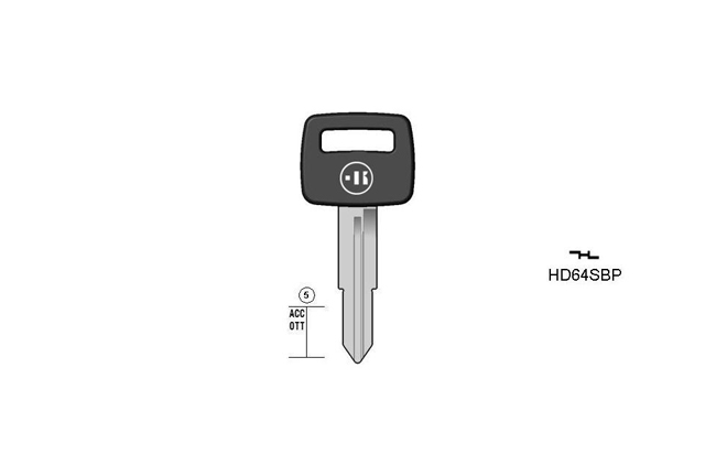car key steel plastic head KL-HD64SBP#K141 S-HON64RBP BO-1243PS23 JMA-HOND-4DP2