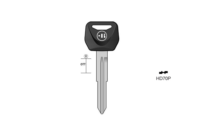 car key Messing plastic head KL-HD70P#K041 S-HON63FP BO-1243PS23 JMA-HOND-4DP2