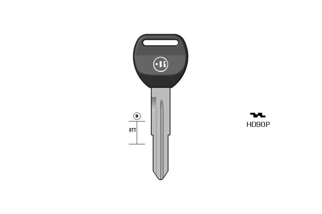 car key steel plastic head KL-HD90P#K141 S-HON58RDP BO-1243PS23 JMA-HOND-16DP