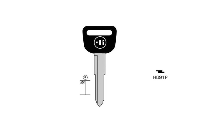 car key steel plastic head KL-HD91P#K141 S-HON37P BO-1353P JMA-HOND-10P