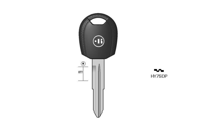 car key Messing plastic head KL-HY7SDP#K041 S-HYN7RAP BO-163800T31 JMA-HY-6DP