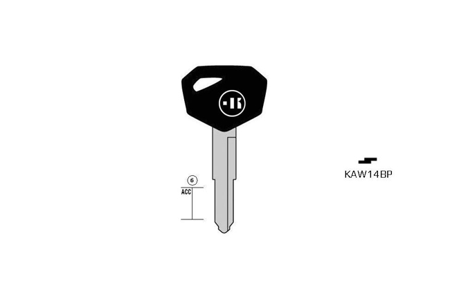 car key steel plastic head KL-KAW14BP#K141 S-KW12BP BO-391 JMA-KA2