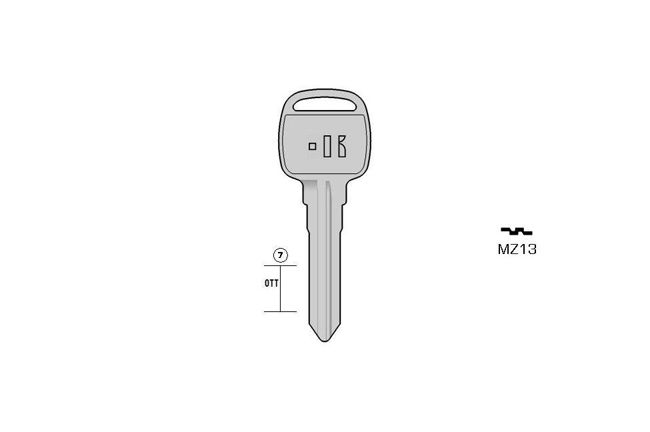 car key Messing KL-MZ13 S-MAZ9 BO-1064L JMA-TPX2MIT-8D.P