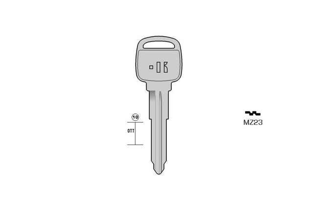 car key Messing KL-MZ23 S-MAZ15 BO-1556A JMA-MAZ-13DP
