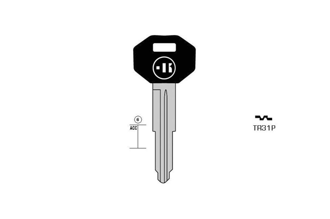 car key Messing plastic head KL-TR31P#K041 S-TOY37P BO-1361BPS39 JMA-TOYO-5P