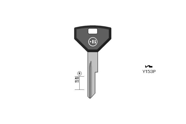 car key Messing plastic head KL-Y153P#K041 S-CY15RP BO-342/70 JMA-CHR-8P