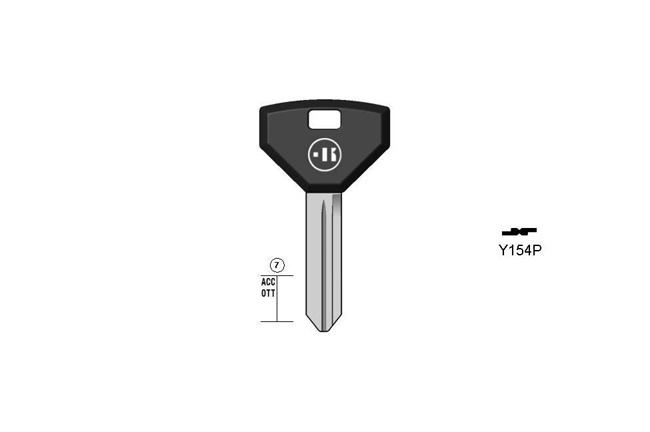 car key Messing plastic head KL-Y154P#K041 S-CY16P BO-342/70 JMA-CHR-9P