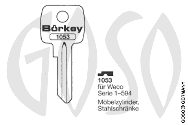 Boerkey cylinder key  BO-1053