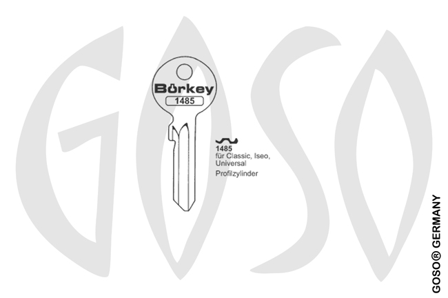 Boerkey cylinder key  BO-1485