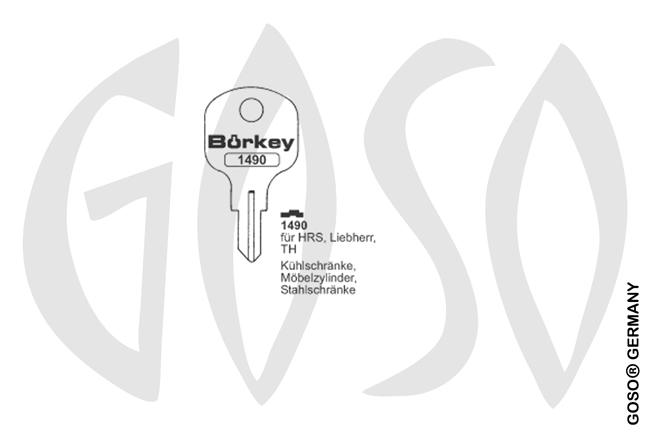 Boerkey cylinder key  BO-1490