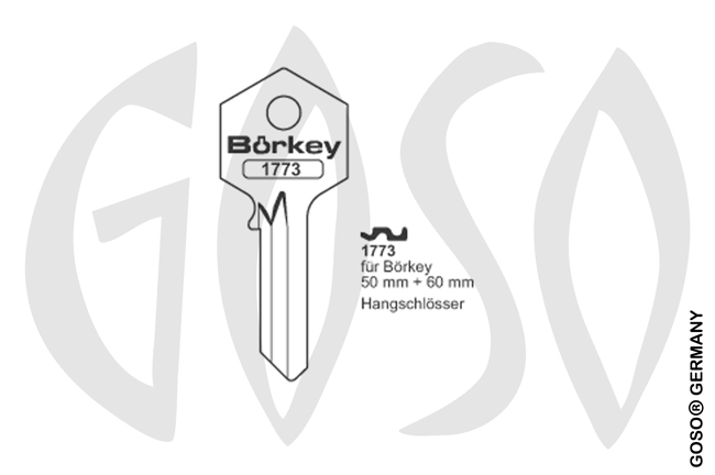 Boerkey cylinder key  BO-1773