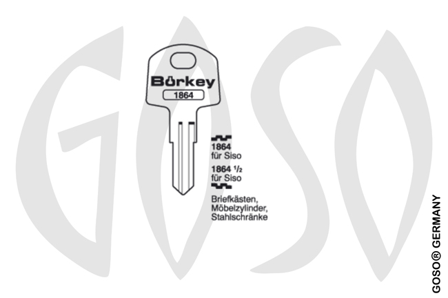 Boerkey cylinder key  BO-1864