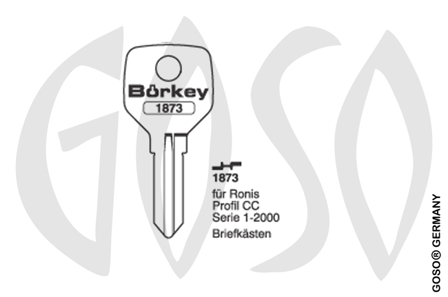 Boerkey cylinder key  BO-1873