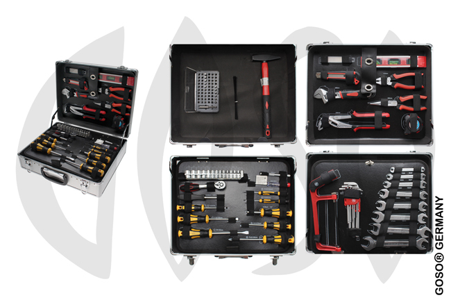 129-piece Tool Set in Aluminum Case 2048