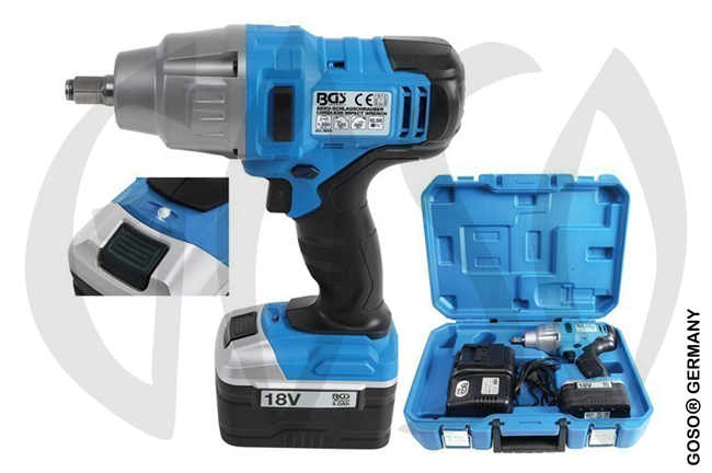"Cordless Impact Wrench, 1/2"", 18V, 520 NM 9194"