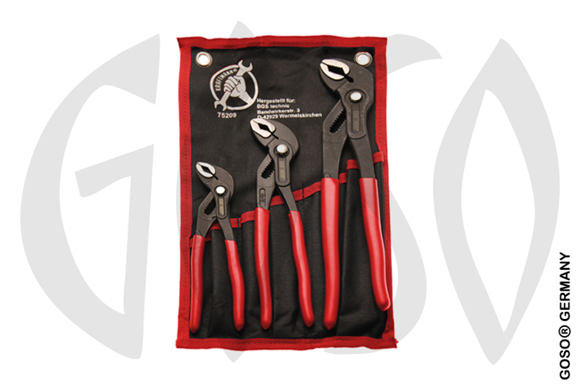 BGS 3-piece Water Pump Pliers Set, Locking Typ 9968