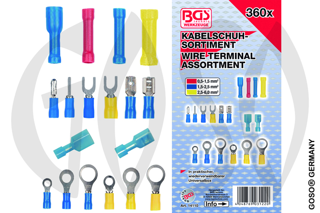 BGS Cable Lug Assortment 360 pcs. 1220