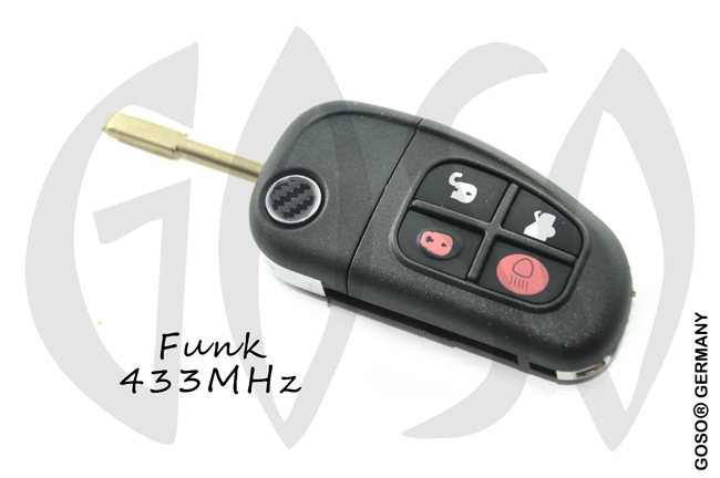 Remote Key for Ford Jaguar 433 MHz 4 Button 0336