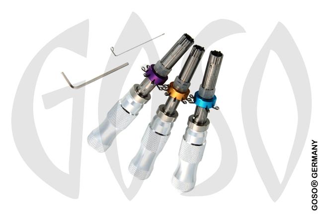 Pick Tubularschloss-Pick Set 7,0mm 7,5mm 7,8mm 0350-2