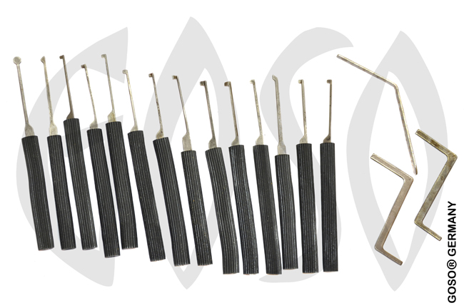 Dimple pick set with long rubber grips 0411