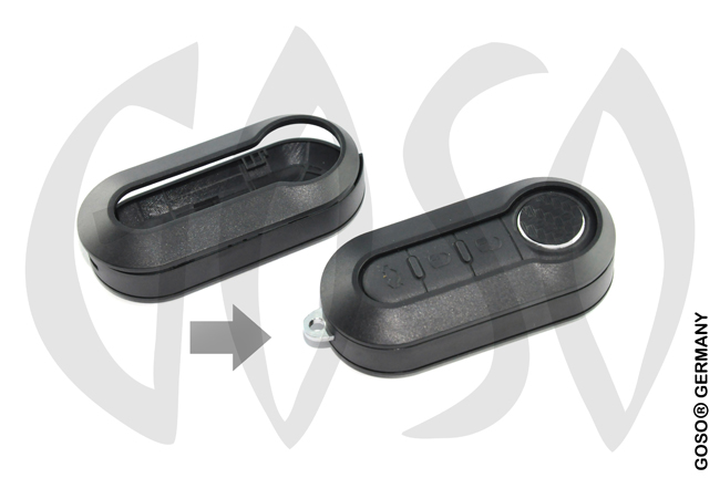 Fiat key cover replacement (black) 0510
