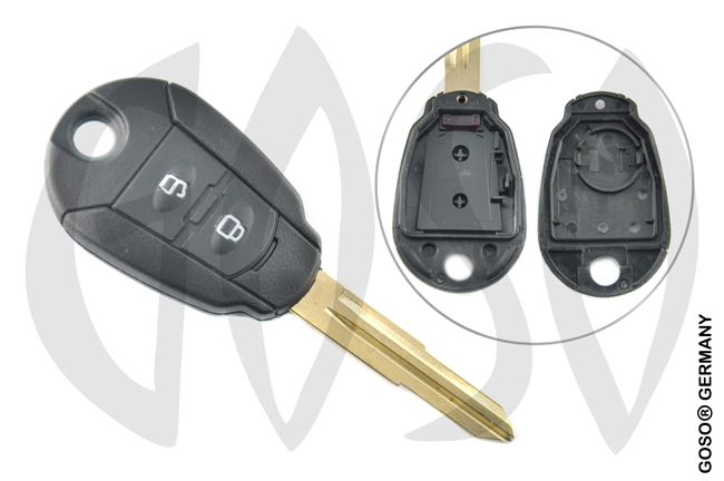 Hyundai 2 button key shell HYN6 0534