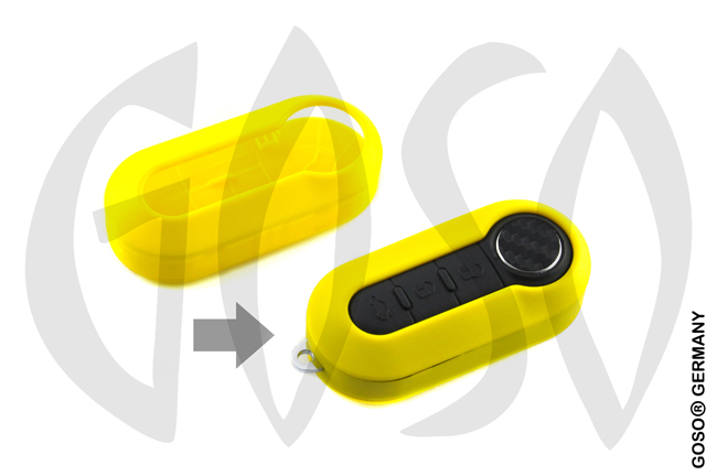 Fiat key cover replacement (yellow) 0770