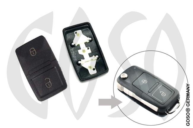 VW key keypad 2 button 0855-2