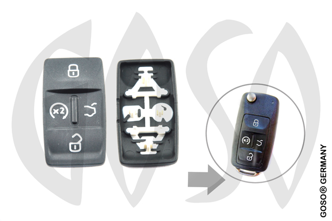 VW key keypad 4 button 0855